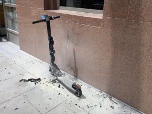 Evitar incendio de un patinete electrico